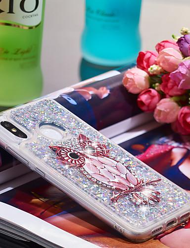 Θήκη Za Xiaomi Xiaomi Mi 8 Otporno na trešnju / Šljokice Stražnja maska Sova / Šljokice Mekano TPU