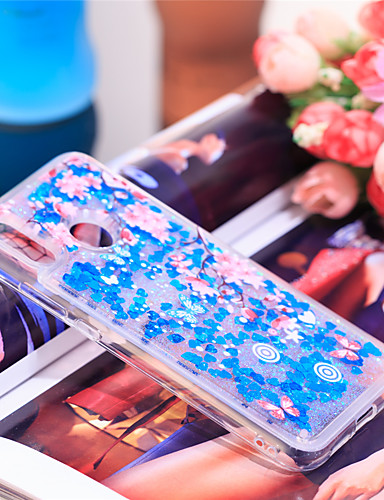 Θήκη Za Huawei Huawei P20 lite Otporno na trešnju / Šljokice Stražnja maska Šljokice / Cvijet Mekano TPU