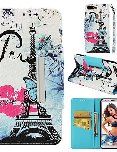 Θήκη Za Huawei Honor 7C(Enjoy 8) Novčanik / Utor za kartice / Zaokret Stražnja maska Eiffelov toranj Tvrdo PU koža