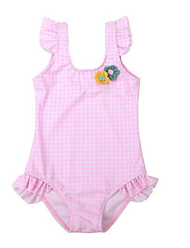 Dijete koje je tek prohodalo Djevojčice Dnevno Jednobojni Kupaći kostim Blushing Pink