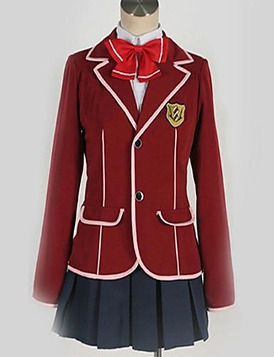 povoljno Anime cosplay-Inspirirana Kriv kruna Inori Yuzuriha Anime Cosplay nošnje Japanski School Uniforms Uglađeni / Suvremeno Kravata / Kaput / Bluza Za Muškarci / Žene / Top