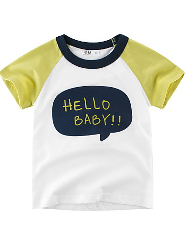 01befd000 Toddler Boys' Basic Solid Colored Short Sleeve Polyester Tee Yellow 7070328  2019 – $7.55