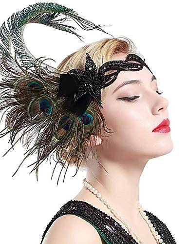 Flapper Girl Retro / Vintage 1920s Lato Sukienka w stylu lat 20-tych Bal maskowy Damskie Cekiny Cekin Kostium Czarny / Złota / Fioletowy Postarzane Cosplay.