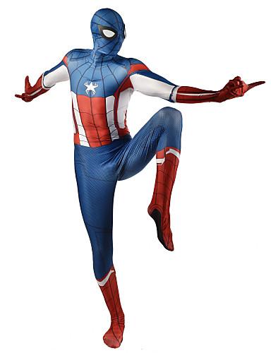 Zentai odijela Odijelo za kožu Puno radno odijelo uz tijelo Super Heroes Dječji Odrasli Lycra Cosplay Nošnje Muškarci Žene Plava Print Božić Halloween New Year