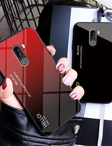 hoesje Voor Xiaomi Xiaomi Pocophone F1 / Xiaomi Mi 8 / Xiaomi Mi 8 SE Spiegel Achterkant Kleurgradatie Hard Gehard glas