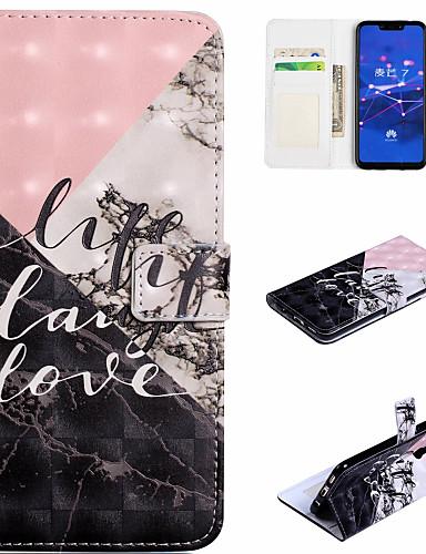 Θήκη Za Huawei Huawei Honor 10 / Honor 7A / Honor 7C(Enjoy 8) Novčanik / Utor za kartice / sa stalkom Korice Riječ / izreka / Mramor Tvrdo PU koža