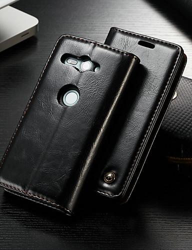 Θήκη Za Sony Xperia XZ2 Compact Novčanik / Utor za kartice / sa stalkom Korice Jednobojni Tvrdo PU koža