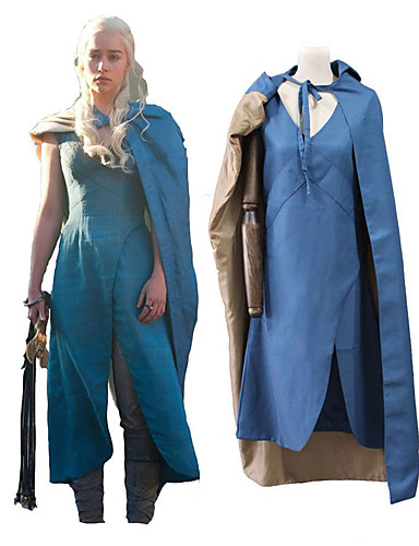 povoljno Maske i kostimi-Igra prijestolja Dragon Mother Daenerys Targaryen Izgledi Uniseks Filmski Cosplay Plava Tuner Halloween Karneval Maškare 100% poliester Običan keper