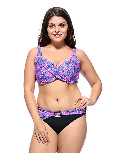820ee8965d Women s Basic Strap Blue Green Lavender Underwire Cheeky Bikini Swimwear -  Floral Geometric Backless Print XXXXL XXXXXL XXXXXXL Blue   Super Sexy  7068387 ...