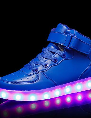 cheap Kid's Led Shoes Hot Sale-Boys' LED / LED Shoes / USB Charging PU Sneakers LED Shoes Kids / Teenager Luminous White / Black / Red Fall / Rubber