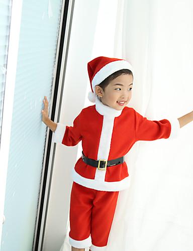 preiswerte Cosplay & Kostüme-Weihnachtskleid Weihnachtsmann kleiden Kinder Unisex Weihnachten Weihnachten Fest / Feiertage Plüsch Pink Karneval Kostüme Urlaub Weihnachten