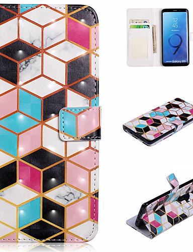 Θήκη Za Samsung Galaxy S9 / S9 Plus / S8 Plus Novčanik / Utor za kartice / sa stalkom Korice Geometrijski uzorak Tvrdo PU koža