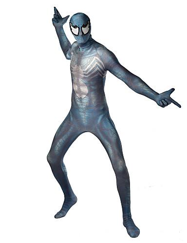 povoljno Maske i kostimi-Zentai odijela Odijelo za kožu Puno radno odijelo uz tijelo Super Heroes Dječji Odrasli Lycra Cosplay Nošnje Muškarci Žene Svjetlo siva Print Božić Halloween New Year