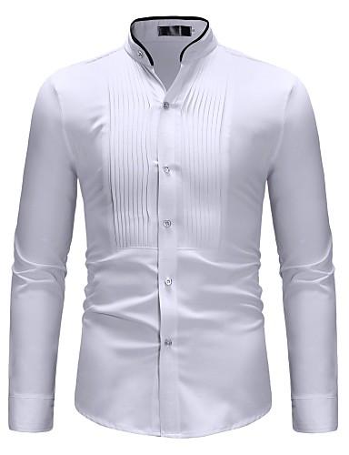 Majica Muškarci - Osnovni Dnevno Color block Kineski ovratnik Obala / Dugih rukava