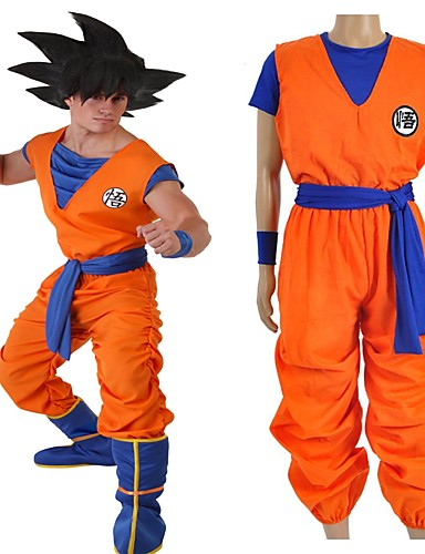 povoljno Anime cosplay -Inspirirana Dragon Ball Son Goku Anime Cosplay nošnje Japanski Cosplay Suits Slovo Others / Top / Hlače Za Uniseks / Traka / vrpca / Traka / vrpca