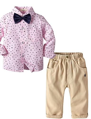 Djeca Dječaci Osnovni Print Dugih rukava Pamuk Komplet odjeće Blushing Pink