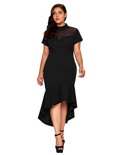 Damen Party Elegant Skinny Bodycon Kleid - Gitter, Solide ...