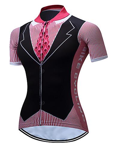povoljno Odjeća za vožnju biciklom-TELEYI Žene Kratkih rukava Biciklistička majica Pink T-shirt odijela Veći konfekcijski brojevi Bicikl Biciklistička majica Majice Brdski biciklizam biciklom na cesti Prozračnost Ovlaživanje Quick dry