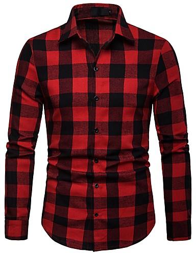 Majica Muškarci Dnevno Geometrijski oblici Slim Plava / Dugih rukava