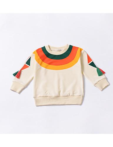 547e8085454 Μωρό Κοριτσίστικα Βασικό Καθημερινά Μονόχρωμο Μακρυμάνικο Κανονικό Βαμβάκι  / Πολυεστέρας Μπλούζα με Κουκούλα & Φούτερ Μπεζ 7062367 2019 – $13.22