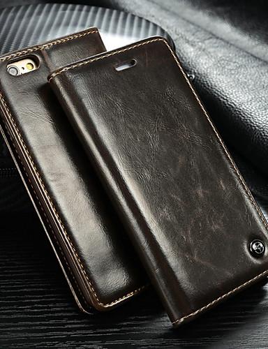Θήκη Za Apple iPhone 6s Plus / iPhone 6 Plus Novčanik / Utor za kartice / sa stalkom Korice Jednobojni Tvrdo PU koža