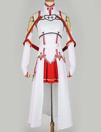 povoljno Maske i kostimi-Inspirirana SAO Swords Art Online Asuna Yuuki Anime Cosplay nošnje Japanski Cosplay Suits Posebni dizajni Top / Suknja / More Accessories Za Muškarci / Žene