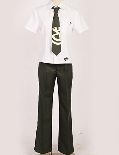 povoljno Maske i kostimi-Inspirirana Danganronpa Hajime Hinata Anime Cosplay nošnje Japanski Cosplay Suits Uglađeni / Black & White / Suvremeno Shirt / Hlače / Kravata Za Muškarci / Žene