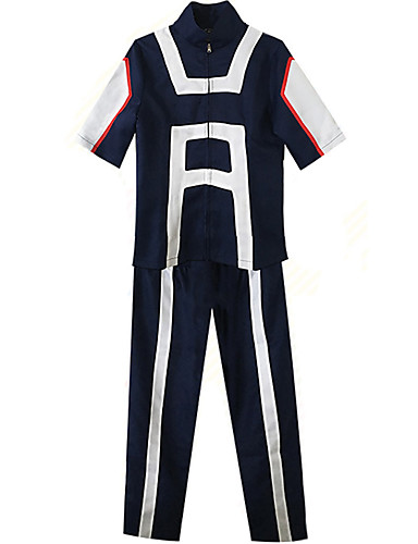 cheap Anime Cosplay-Inspired by My Hero Academia / Boku No Hero Midoriya Izuku Bakugou Katsuki Shoto Todoroki Anime Cosplay Costumes Japanese Cosplay Suits Special Design Top Pants Costume For Men's Women's