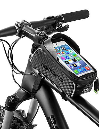 preiswerte Fahrrad Zubehör-ROCKBROS Handy-Tasche Fahrradrahmentasche 6 Zoll Wasserdicht Tragbar Radsport für iPhone X iPhone XR iPhone XS Schwarz Fahhrad / iPhone XS Max