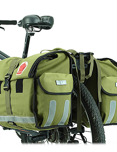 povoljno Biciklizam-ROSWHEEL 50 L Panniers & Rack Trunk Prilagodljivo Velika zapremnina Vodootporno Torba za bicikl Platno Vodootporni materijal 600D Torba za bicikl Torbe za biciklizam Biciklizam / Bicikl