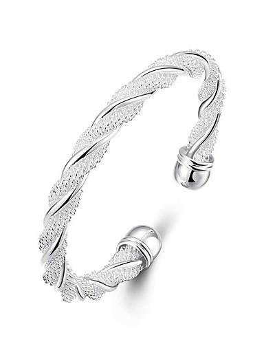 preiswerte Hochzeiten & Feste-Damen Armreife Klassisch Stilvoll Kupfer Armband Schmuck Silber Für Hochzeit Party