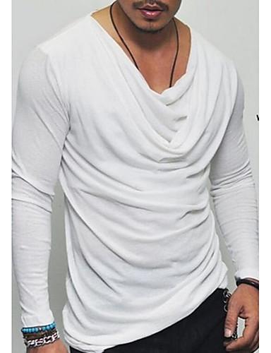 Majica s rukavima Muškarci Dnevno Jednobojni Okrugli izrez Slim Obala / Dugih rukava
