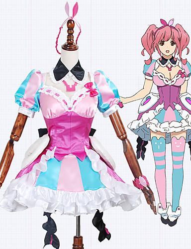 povoljno Anime cosplay-Inspirirana Macross Frontier Cosplay Anime Cosplay nošnje Japanski Cosplay Suits Miks boja Haljina / Luk / More Accessories Za Muškarci / Žene