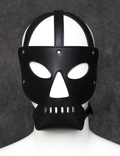Zentai odijela Mask Pokrivalo za lice Odrasli Koža Cosplay Nošnje Masks Halloween Muškarci Žene Crn Jednobojni Halloween Karneval Valentinovo