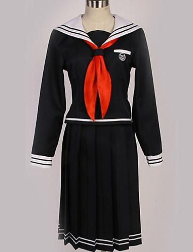 povoljno Anime cosplay-Inspirirana Danganronpa Toko Fukawa Anime Cosplay nošnje Japanski Cosplay Suits Uglađeni / Suvremeno Kravata / Top / Suknja Za Muškarci / Žene