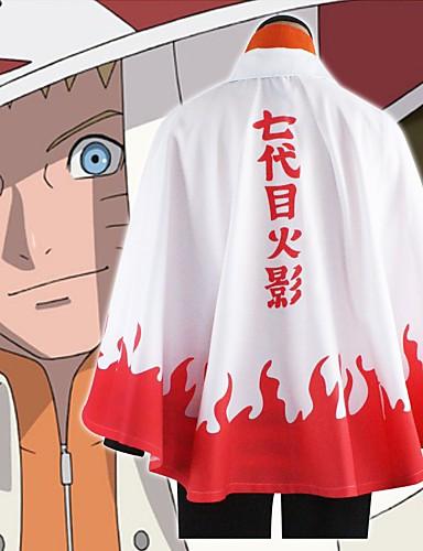 povoljno Maske i kostimi-Inspirirana Naruto Hokage / Naruto Uzumaki / Boruto Anime Cosplay nošnje Japanski Cosplay Tops / Bottoms Klasika Dugih rukava Plašt Za Uniseks