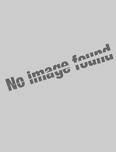 billige Dametopper-Løse skuldre Store størrelser T-skjorte Dame - Geometrisk / Fargeblokk Hvit / Vår / Sommer / Høst