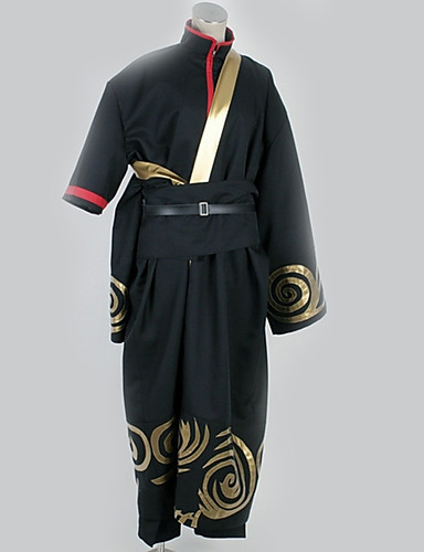 povoljno Anime cosplay-Inspirirana Gintama Cosplay Anime Cosplay nošnje Japanski Cosplay Suits Patterned Top / Hlače / More Accessories Za Muškarci / Žene
