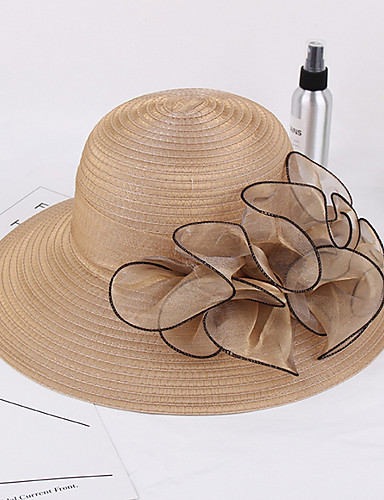 09dc48a2 Women's Kentucky Derby Vintage Straw Straw Hat-Solid Colored Wine Khaki  Lavender 7086355 2019 – $12.99