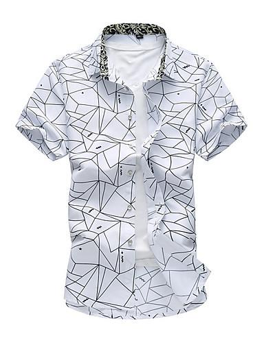 Veći konfekcijski brojevi Majica Muškarci Dnevno Color block Obala / Kratkih rukava