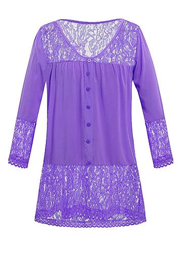 billige Dametopper-Løstsittende V-hals T-skjorte Dame - Ensfarget, Blonde Gatemote Oransje / Blonder