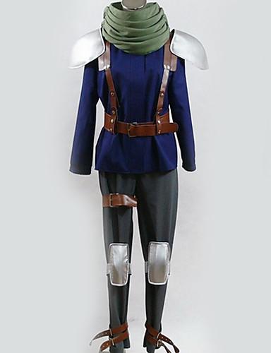 povoljno Anime cosplay-Inspirirana Final Fantasy Cosplay Anime Cosplay nošnje Japanski Cosplay Suits Posebni dizajni Top / Hlače / Rukavice Za Muškarci / Žene