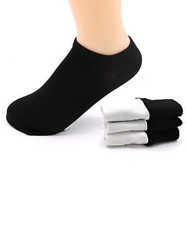 preiswerte Damen Socken & Strumpfwaren-Damen Socken - Solide Dünn Sport Weiß Schwarz Einheitsgröße