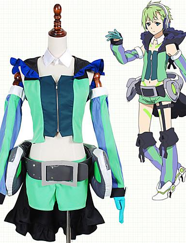 povoljno Anime cosplay-Inspirirana Macross Frontier Cosplay Anime Cosplay nošnje Japanski Cosplay Suits Kolaž Top / Rukavice / More Accessories Za Muškarci / Žene