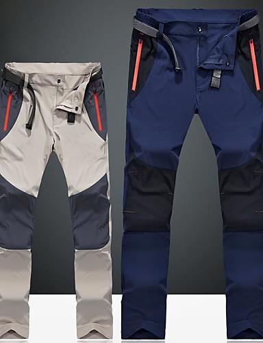 Χαμηλού Κόστους καλοκαίρι έκπτωση-Ανδρικά Pantaloni de Drumeție Patchwork Εξωτερική Αντιανεμικό Αναπνέει Αδιάβροχο Γρήγορο Στέγνωμα Παντελόνια Παντελόνια Φούστες Κατασκήνωση & Πεζοπορία Κυνήγι Ψάρεμα Σκούρο γκρι Χακί Σκούρο μπλε 4XL
