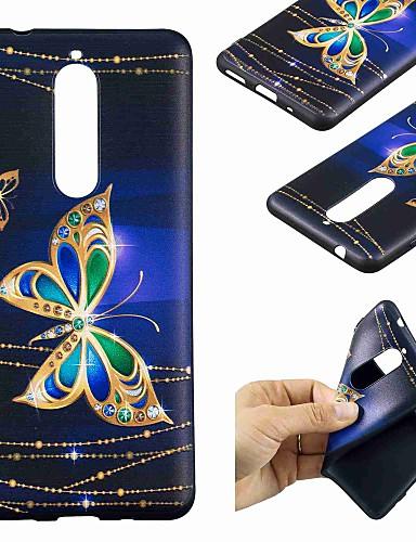 Θήκη Za Nokia Nokia 8 / Nokia 6 / Nokia 5 Uzorak Stražnja maska Rukav leptir Mekano TPU