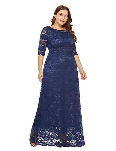 7913dceee Mulheres Tamanhos Grandes Feriado Para Noite Vintage Moda de Rua Solto  Chifon Vestido - Renda