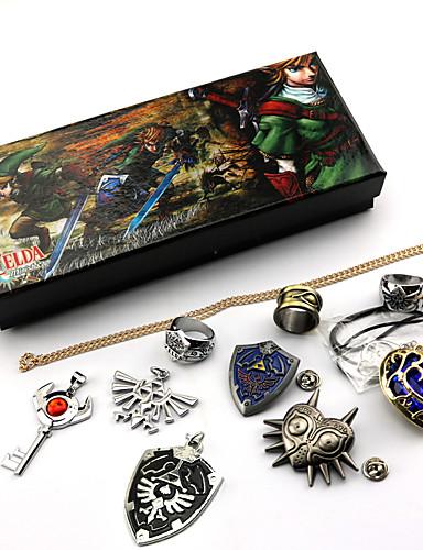 povoljno Anime cosplay-More Accessories Inspirirana The Legend of Zelda Link Anime Cosplay Pribor Ogrlice Značka prsten Legura Noć vještica