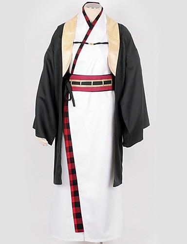 povoljno Anime cosplay-Inspirirana Cosplay Cosplay Anime Cosplay nošnje Japanski Cosplay Suits / Kimono Jednobojni Kimono Dlaka / Kostim Za Muškarci / Žene