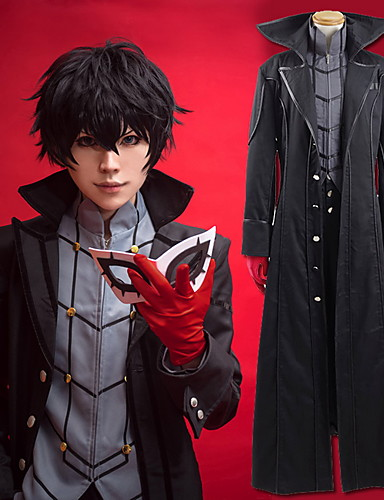 cheap Anime Cosplay-Inspired by Persona 5 Joker Ren Amamiya / Akira Kurusu Anime Cosplay Costumes Japanese Cosplay Suits Solid Colored Coat Top Pants For Men's Women's / Gloves / More Accessories / Gloves
